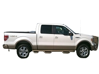 2009-2014 F150 N-Fab Bed Access 6-Step Nerf Bars (SuperCrew 5.5ft Bed)
