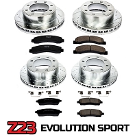 1999-2002 Ford F250/F350 2WD Power Stop Complete Z23 Brake Kit - Rotors and Pads - 4 wheel ABS