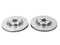 2015-2017 Mustang Power Stop Evolution Drilled and Slotted Rear Rotors