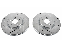 2013-2014 Focus ST Power Stop Drilled & Slotted Front Brake Rotors (12.6