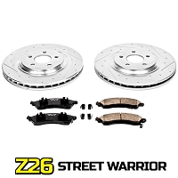 2015-2017 Mustang GT & EcoBoost PP Power Stop Z26 Street Warrior Front Brake Package