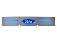 1999-2016 F250 & F350 Recon Brushed Rear Door Sill - Blue LED