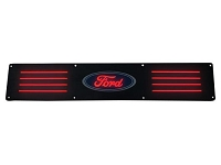 1999-2016 F250 & F350 Recon Black Anodized Rear Door Sill - Red LED