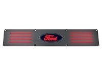 1999-2016 F250 & F350 Recon Brushed Rear Door Sill - Red LED