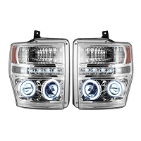 2008-2010 F250 & F350 Recon Projector Headlights (Clear LED)