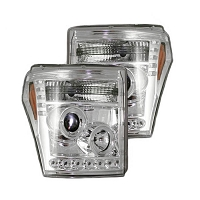 2011-2016 F250 & F350 Recon Projector Headlights (Clear / Chrome)