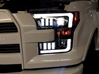 2015-2017 F150 Recon LED Outline Smoked Projector Headlights