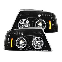 2004-2008 F-150 Recon Projector Headlights (Smoked)