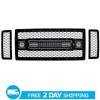 2008-2010 Ford F250 & F350 Rigid Industries Non-FX4 LED Grille Kit