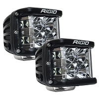 Rigid Industries D-SS Side Shooter Pro LED Light - White - Flood - Pair
