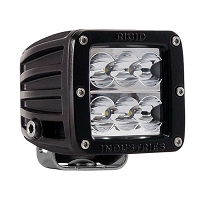 Rigid Industries D2 LED Light - Wide - White - Single