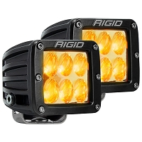 Rigid Industries D2 Pro LED Light - Amber - Driving - Pair