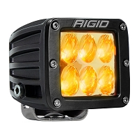 Rigid Industries D2 LED Light - Wide - Amber - Single
