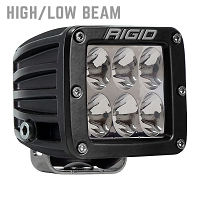 Rigid Industries D2 LED Light - White - Driving (High / Low) Single