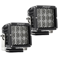 Rigid Industries D2 XL Pro LED Light - White - Diffused - Pair