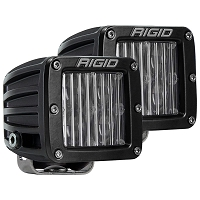 Rigid Industries D-Series DOT/SAE Fog Light Set - White - Flood - Pair