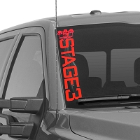 Stage 3 Motorsports Side-Style Vertical Windshield Banner