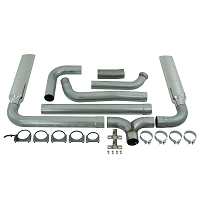 2003-2007 6.0L F250 & F350 MBRP Turbo Back Smoker Exhaust Kit - W/ Stacks