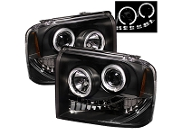 2005-2007 F250 & F350 Spyder LED Projector Headlights (Black)