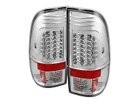 1999-2007 F250 & F350 Spyder Version 2 LED Taillights (Chrome)