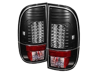 1999-2007 F250 & F350 Spyder Version 2 LED Taillights (Black)