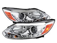 2013-2014 Focus ST Spyder DRL Strip Projector Headlight (Chrome Housing)