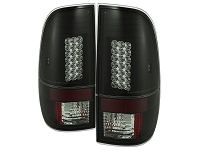 1999-2007 F250 & F350 Spyder LED Taillights (Smoke/Black)