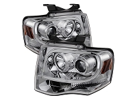 2007-2013 Expedition Spyder Auto Chrome Projector DRL Tube Headlights