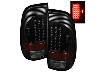 1999-2007 F250 & F350 Spyder Euro Style LED Tail Lights (Black)