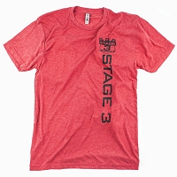 Stage 3 Motorsports Red Lettering & Logo T-Shirt