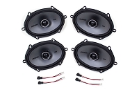 2004-2014 F150 Kicker KSC68 6x8 Door Speaker Upgrade Kit - CrewCab & SuperCab