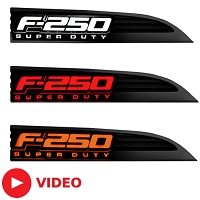 2011-2016 F250 Recon Illuminated Side Emblems
