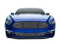 2015-2017 Mustang GT T-Rex Laser Billet Upper Grille with Polished Finish