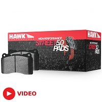 2005-2014 Mustang Hawk HPS-5.0 Rear Brake Pads