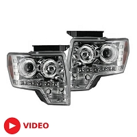 2009-2014 F150 / Raptor Recon Projector Headlights w/ CCFL Halos (Clear)