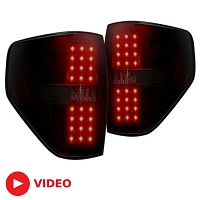 2009-2014 F150 / Raptor Recon LED Tail Lights (Red Smoked)
