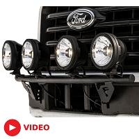 2015-2017 F150 N-Fab Light Bar (For Round Lights)