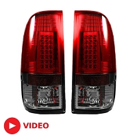 2008-2016 F250 & F350 Recon Dark Red / Smoked Tail Lights