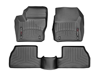 2013-2016 Focus ST WeatherTech Digital Fit Black Front & Rear Floor Liners (Black)