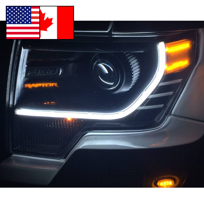 Ford f150 2009 2012 halo led projector headlights black apps directories