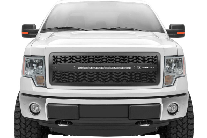 f150 grille light bar led 2009 upper series zroadz grilles parts upgrades exterior performance stage3motorsports