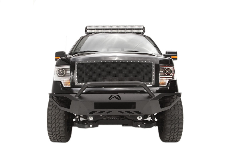 2009-2014 F-150 Fab Fours Vengeance Front Bumper w/ Pre-Runner Guard (Black)