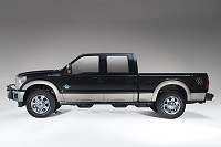 1999-2016 F250 & F350 SuperCrew Fab Fours Side Steps (Black)