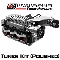 2010-2014 F-150 / F-250 / Raptor 6.2L Whipple W175AX (2.9L) Intercooled Supercharger Tuner Kit (Polished)