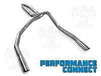 2011-2014 F150 5.0L Stainless Works S-Tube Performance Connect Dual Rear Exit Cat-Back Kit