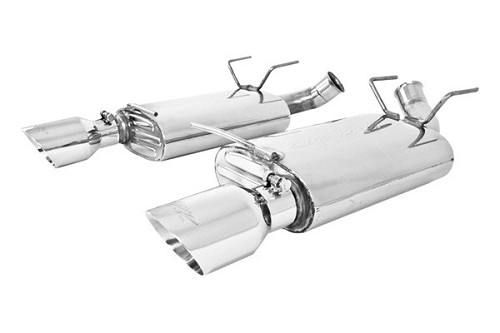 "2011-2014 Mustang V6 MBRP Pro Series 2 1/2"" Dual Rear Exit Axle-Back Exhaust System"