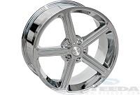 2005-2014 Mustang 20x9.5 Steeda Ultra-Lite Wheel (Chrome)