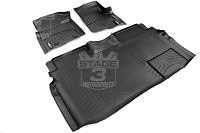 2009-2014 F150 SuperCrew WeatherTech Front & Rear Digital Fit Floor Mats (Black)