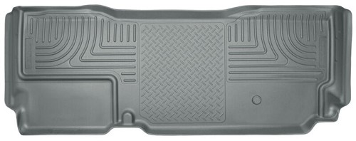 2011-2016 F250 & F350 Super Cab Husky Liners WeatherBeater Rear Floor Liner (Gray)