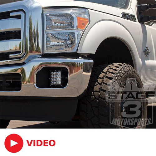 2011 2016 ford f250 f350 q series led complete fog light. Black Bedroom Furniture Sets. Home Design Ideas